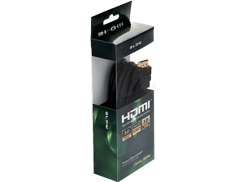 kabel hdmi micro hdmi classic blister 3m k6034 anprel sklep. Black Bedroom Furniture Sets. Home Design Ideas