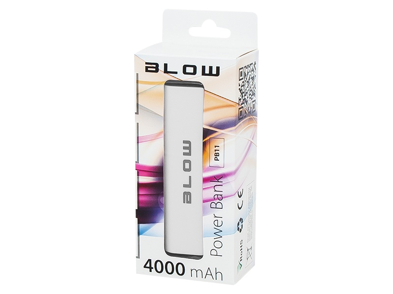 Power Bank 4000mAh 1xUSB PB11 BIAŁY BLOW (ZS8001)